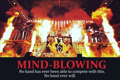"""KISS Band 24 x 36 1977-78 """"MIND BLOWING"""" Full Stage Shot Custom Poster"""