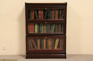 Lawyer-3-Stack-Original-Antique-1900-Bookcase
