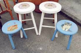 Two Pairs Petite Stools