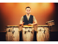 Percussionist : Recording and teaching; Congas, Cajon, Bongos, Djmebe, Timbales