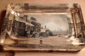 Pair of Victorian photographic paperweights