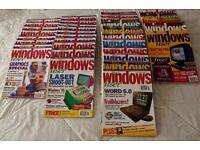 'Windows User' Mags '92-'96. Rare copies. Suit technology historians/ collectors/researchers