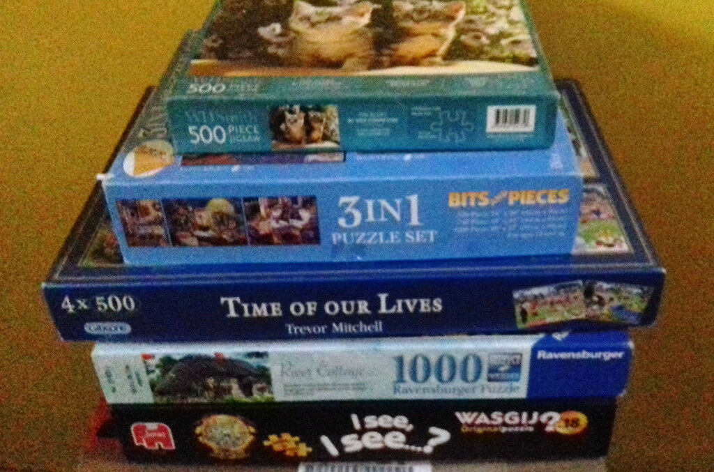 Collection of Adult Jigsaw Puzzles 500, 750 and 1000 Pieces | in  Pontypridd, Rhondda Cynon Taf | Gumtree