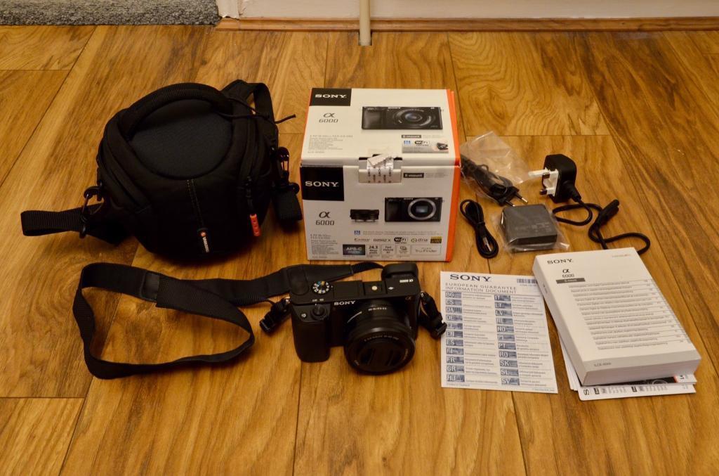 Sony Alpha a6000 mirrorless digital camera 24.3MP 16-50mm kit lens. Nikon Samsung Panasonic canon