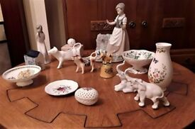 Job lot of collectible China/porcelain including Nao, Valencia, Ainsley pieces, Delft etc