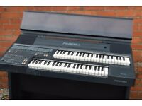 Black farfisa electric organ
