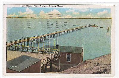 For sale Relay House Pier Nahant Beach Massachusetts 1949 postcard