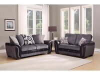 Stylish 3+2 Seater Highr Quality Fabric In Black & Grey