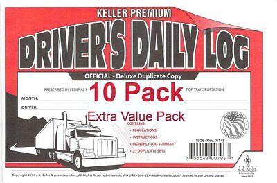 (J.J. Keller 8526 701L Duplicate Copy Driver's Daily Log Book Carbonless - Pac...)