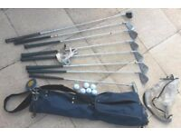 Golf clubs with accessories