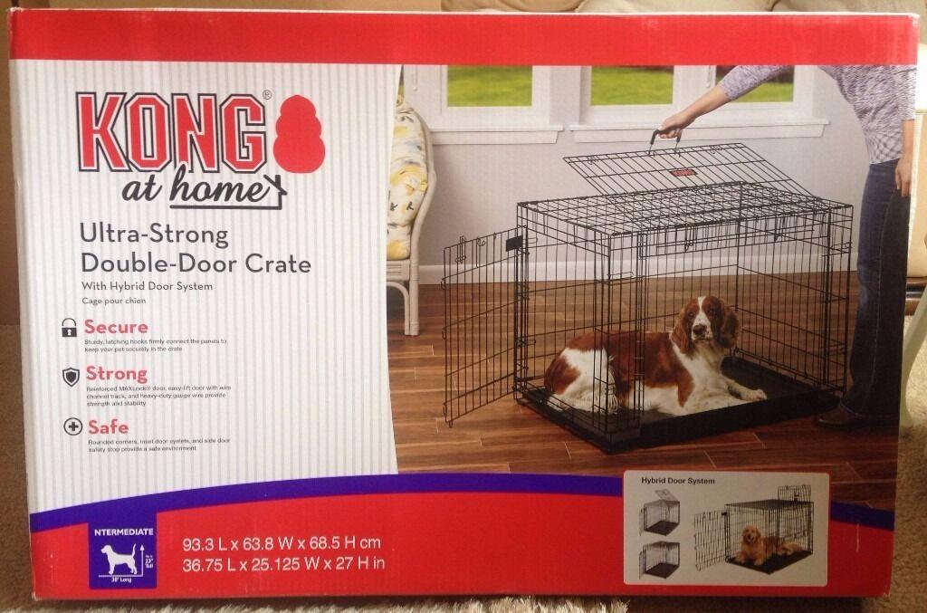 Kong Two Door Dog Crate Black Intermediate 93 3cm L X63 8cm W X68
