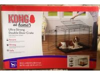 KONG Two Door Dog Crate Black Intermediate. 93.3cm(L)x63.8cm(W)x68.5cm(H). Only 5 Months old.