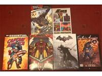 Marvel and DC comic books