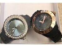 Pilgrim watches x2 £20 each grey & silver balaclava & rose gold
