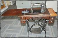 """Raymond"" Antique treddle sewing machine.......   very old...."