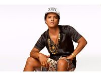 Bruno Mars: 24K Magic Tour £212.85 for 3 standing tickets