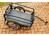 BIKE CARGO TRAILER BLACK STEEL 50 KG LOAD CAPACITY