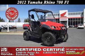 2012 Yamaha 700R Rhino FI Certified! Powerful Engine! Smooth Tra