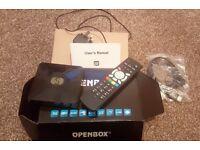 NEW OPENBOX F5S Satellite TV Box - Sky, News, FREE Sports, Movies etc