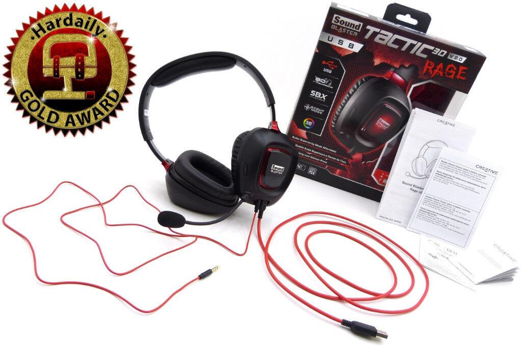 389497b6db4 Creative Sound Blaster Tactic3D Rage USB V2.0 (PC/MAC/PHONE/TABLET) Gaming  Headset, £20ono, Glasgow