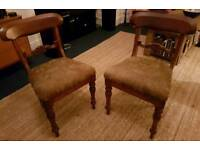 CAN DELIVER A pair of Edwardian chairs