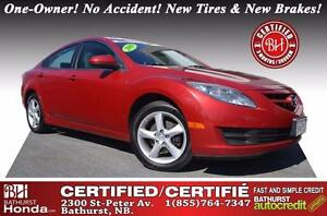 2009 Mazda Mazda6 GS Certified! One-Owner! No Accident! New Tire