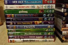 11 X CHILDRENS DVDS . if reading this they will still be for sale