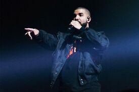 2 X Drake Tickets *Block 110* 02 Arena *Thurs 2nd Feb*