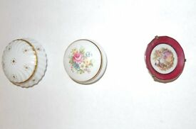 Limoges Triinket Boxes and Miniature Plate