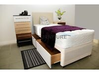 Brand New Single Divan Bed With Good Qaulity Medium Firm Mattress.All Sizes Available