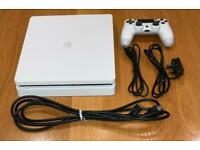 PS4 Slim 500Gb White - PlayStation 4, DualShock controller, cables