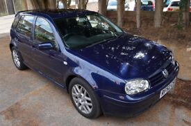 2002 (52) Volkswagen VW Mk4 Golf 1.9 GT GT TDI Highline PD 130 BHP Low Miles Indigo Blue Metallic