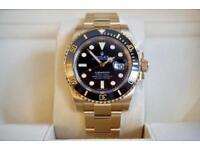 Rolex Submariner Full Gold Wrapped 18K 116618LN