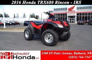 2016 Honda TRX680 Rincon Independent Rear Suspension!
