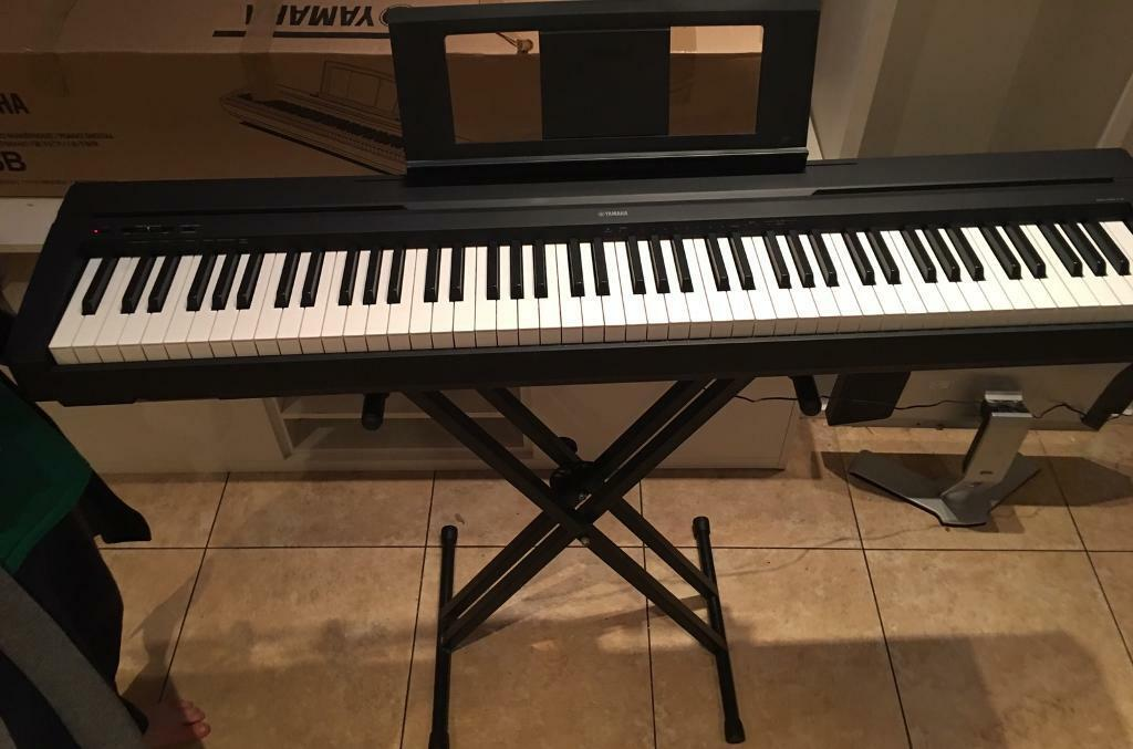 yamaha p45 b keyboard full size with weighted keys in