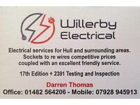 Electrician in Hull. Qualified, competent. Competitive rates.