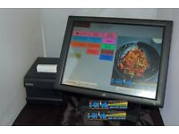 "Fast Food Takeaway Chip Shop 15"" inch Epos System for Delivery System Including Caller ID Maps"