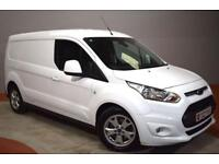 FORD TRANSIT CONNECT 1.6 240 LIMITED 115BHP LWB 3 Front Seats 1 Owner (white) 2015