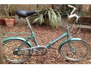 Nice Vintage LADIES'/GENTS' bicycle Raleigh Hercules Shopper Twenty TOWN BIKE