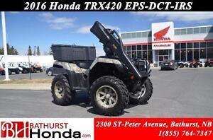 2016 Honda TRX420 DCT IRS EPS Electric Power Steering! Dual Clut