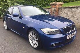 "09 BMW 320D 2.0 DIESEL 6SDP MANUAL 18"" M-SPORT ALLOYS 1 YEARS MOT"