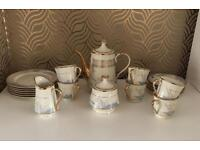 21 Piece Porcelain Tea Set