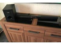 Sound bar and subwoofer with Bluetooth and remote