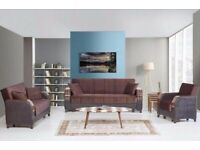 2 x FREE Cushions - Orignal TURKISH Sofa bed , Lush iN Comfort Amazing Design Strong Structure