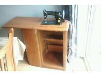 Singer sewing machine with original cabinet
