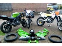 3 Bikes !!!,Dr350 !, 125 !, V twin sports !! (Dirtbike 250 450 cr dr 350 drz kx yz rm Suzuki)