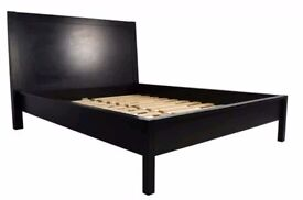 Super king sized bed frame dark solid wood by BoConcept