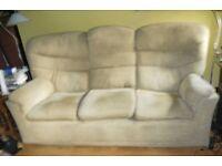 G Plan sofa, recliner and pouffe