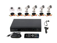8 Channel CCTV DVR Security Camera System INCLUDES 6 cameras, cables, PSU, 2TB Hard Drive BRAND NEW
