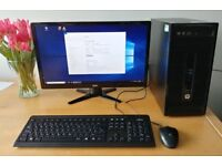 HP PRODESK 400 G2, i5-4590S, 4GB RAM, 500GB HDD, Win 10 Pro with 22inch LED Full HD monitor